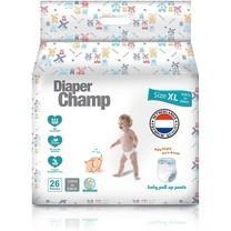 ผ้าอ้อมสำเร็จรูป Diaper Champ ชนิดกางเกง Size XL ( 12 -25 กก) 26 ชิ้นต่อแพค