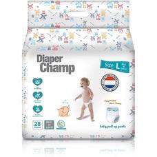 ผ้าอ้อมสำเร็จรูป Diaper Champ ชนิดกางเกง Size L ( 9 -14 กก) 28 ชิ้นต่อแพค