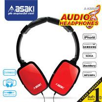 Asaki หูฟังเฮดโฟนออดิโอ Headphone Audio สำหรับฟังเพลง เชื่อมต่อด้วยแจ็ค 3.5 มม. รุ่น A-K88MP