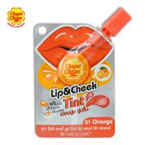 Chupa Chupsลิปทิ้นท์แอนด์ชีค แคนดี้มูส ออเรนจ์ #01