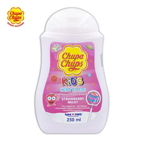 Chupa Chups Head To Toeครีมมอาบน้ำ + สระผม กลิ่นStrawberry Milky ขนาด 250มล.