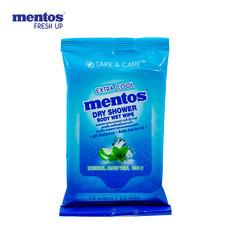 Mentos Dry Shower Extra Coolทิชชู่เปียก(10แผ่น)