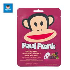 PAUL FRANK GRAPE WINE ANTIOXIDANTS & WRINKLE SERUM MASK SHEETเซรั่มมาส์กชีท เกรพไวน์
