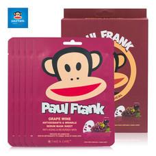 PAUL FRANK GRAPE WINE ANTIOXIDANTS & WRINKLE SERUM MASK SHEET (SET 5แผ่น)เซรั่มมาส์กชีท เกรพไวน์