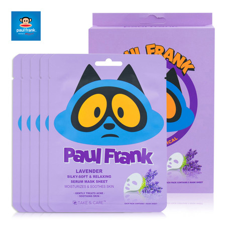 PAUL FRANK LAVENDER SILKY-SOFT & RELAXING SERUM MASK SHEET (SET 5แผ่น) เซรั่มมาส์กชีท ลาเวนเดอร์