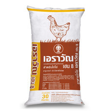 อาหารไก่ไข่ เฮน8(เม็ด) 30 กก.