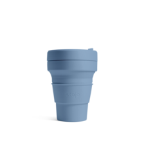 STOJO แก้ว Pocket Cup 12 oz - Steel Blue