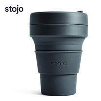 STOJO แก้ว Pocket Cup 12 oz - Carbon