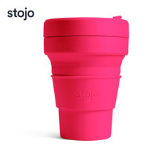 STOJO แก้ว Pocket Cup 12 oz - Coral