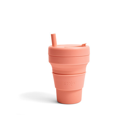 STOJO แก้ว Biggie Cup 16 oz - Apricot