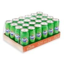 แฟนต้า เครื่องดื่มน้ำอัดลม ฟรุ๊ตพันช์ (สีเขียว) 325 มล. X 24 กระป๋อง (ยกลัง)