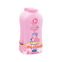 WELVE PLUS Perfumed Refreshing Cool Powder แป้งเย็น 300 กรัม x 2 กระป๋อง