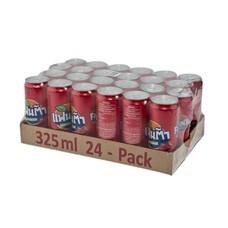 แฟนต้า เครื่องดื่มน้ำอัดลม กลิ่นสตอเบอรี่ (สีแดง) 325 มล. X 24 กระป๋อง (ยกแพ็ค)