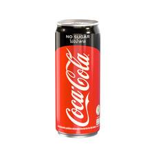 โค้ก เครื่องดื่มน้ำอัดลม สูตรไม่มีน้ำตาล 325 มล.