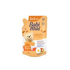BABI MILD ผลิตภัณฑ์ซักผ้าเด็กผสมปรับผ้านุ่ม 2 อิน 1 กลิ่นสวีท อัลมอนด์ 600 มล.