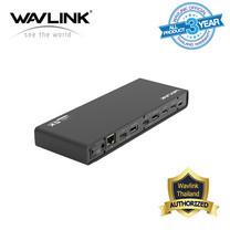 Wavlink USB-C Dual 4K Multifunction Docking Station 15 พอร์ต ครบจบ ทุกสายงาน มี Shipset Displaylink ช่วยประมวลผลภาพไม่ให้หนักคอมพิวเตอร์หรือโน็ตบุ๊คในตัว