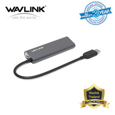 Wavlink Superspeed USB 3.0 Aluminum HUB อุปกรณ์แบบ USB แก้ปัญหาช่องเสียบไม่เพียงพอของโน๊ตบุ๊คหรือคอมพิวเตอร์ มี 4 พอร์ต มีไฟ LED แสดงสถานะพอร์ต