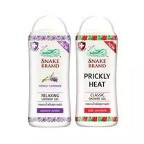 Snake Brand เจลอาบน้ำ ตรางู สูตรเย็น คละกลิ่น ขนาด 180 มล.คลาสสิค 1 ขวด+ รีแล็กซิ่ง 1 ขวด