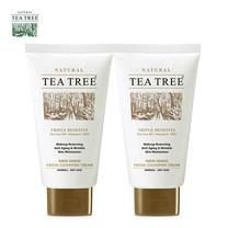 Tea Tree ที ทรี โฟมล้างหน้า นอน-ไอโอนิค เฟเชียล คลีนซิ่ง ครีม ขนาด 4.8 ออนซ์ 2 หลอด
