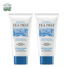 Tea Tree ที ทรี โฟมล้างหน้า ไวท์เทนนิ่ง สครับ เฟเชียล โฟม ขนาด 4.8 ออนซ์ 2 หลอด