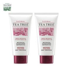 Tea Tree ที ทรี โฟมล้างหน้า ไวท์เทนนิ่ง เฟเชียล โฟม ขนาด 4.8 ออนซ์ 2 หลอด