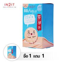 IN2IT BB Aqua Sheer Cover BQA02-S (02 Golden Beige) 6pcs/box 1 กล่อง free 1 กล่อง