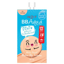 IN2IT BB Aqua Sheer Cover Make-Up Cream BQA01-S (01 Rose Beige) 1 ซอง