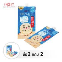 IN2IT BB Aqua Sheer Cover PBQA01-S (01 Rose Beige) 2 ซอง free 2 ซอง