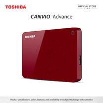 Toshiba External Harddrive (4TB) รุ่น Canvio V9 External HDD 4TB Red USB3.2