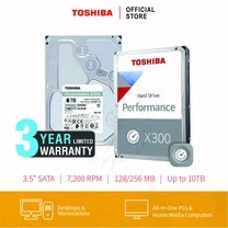 HARDDISK TOSHIBA (X300) HDWR160 6TB SATA 3.5 7200RPM C/B 128 MB