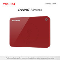Toshiba External Harddrive (1TB) รุ่น Canvio V9 External HDD 1TB Red USB3.2