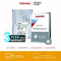 HARDDISK TOSHIBA (X300) HDWR11A 10TB SATA 3.5 7200RPM C/B 256 MB