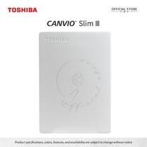 Toshiba External Harddrive (2TB) รุ่น Canvio Slim 3 External HDD 2TB Silver USB3.2
