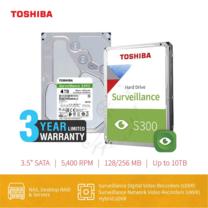 HARDDISK TOSHIBA (S300) (แถมฟรีสมุดโน๊ต TOSHIBA) HDWT140 4TB SATA 3.5 5400RPM C/B 128 MB