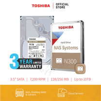 TOSHIBA HARDDISK 16TB (N300) HDWG31G SATA 3.5 7200RPM C/B 256 MB