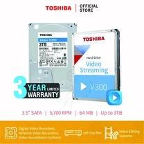 HARDDISK TOSHIBA (V300) HDWU130 3TB SATA 3.5 5400RPM C/B 64 MB
