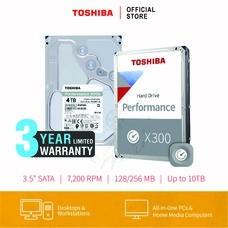 HARDDISK TOSHIBA (X300) HDWE140 4TB SATA 3.5 7200RPM C/B 128 MB
