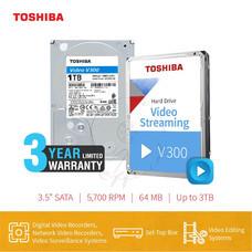 HARDDISK TOSHIBA (V300) HDWU110 1TB SATA 3.5 5400RPM C/B 64 MB