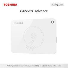 Toshiba External Harddrive (1TB) รุ่น Canvio V9 External HDD 1TB White USB 3.0