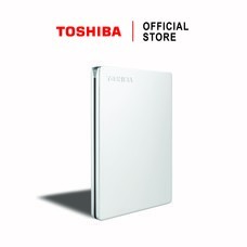 Toshiba External Harddrive (1TB) รุ่น Canvio Slim  External HDD 1TB Silver USB 3.0