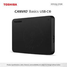 Toshiba External Harddrive (4TB) รุ่น Canvio Basics TypeC External HDD 4TB Black USB Type-C