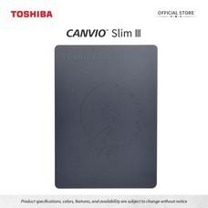 Toshiba External Harddrive (1TB) รุ่น Canvio Slim  External HDD 1 TB Black USB 3.0