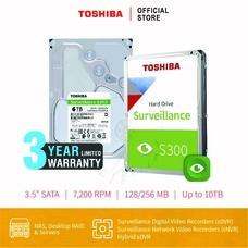 HARDDISK TOSHIBA (S300) HDWT360 6TB SATA 3.5 7200RPM C/B 256 MB