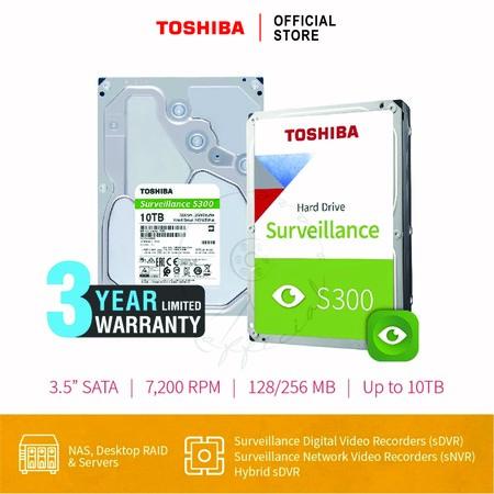 HARDDISK TOSHIBA (S300) HDWT31A 10TB SATA 3.5 7200RPM C/B 256 MB