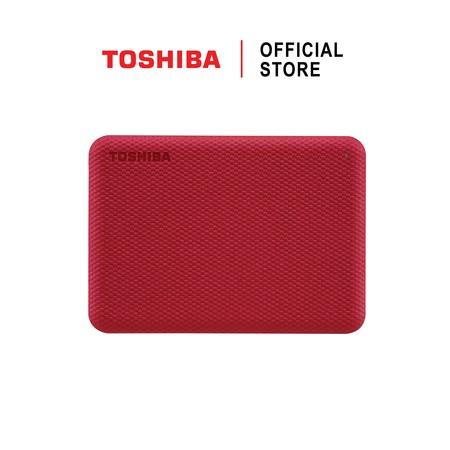 Toshiba External Harddrive (1TB) สีแดง รุ่น Canvio V10 External HDD 1TB USB3.2 New!