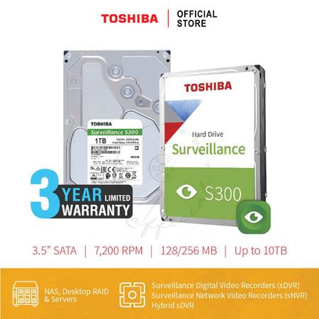 HARDDISK TOSHIBA (S300) HDWV110 1TB SATA 3.5 5400RPM C/B 128 MB
