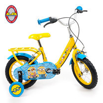 """จักรยานเด็ก MINIONS 12"""" สำหรับเด็กหญิง สีเหลือง"""
