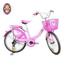 LA Bicycle จักรยานรุ่น HELLO KITTY 24 นิ้ว PINK FLOWER