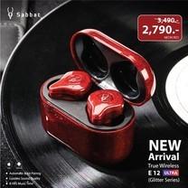 หูฟัง True Wireless Sabbat E12 Ultra Glitter Series - Neon red (รับประกัน 1 ปี 6 เดือน)