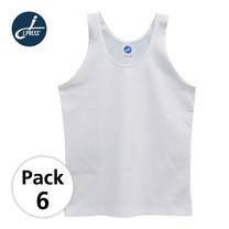 J Press เสื้อกล้ามเด็กชาย เจเพรส No.T111 6ตัว/กล่อง - สีขาว